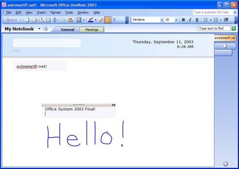 Microsoft Office 2003: OneNote (klein)