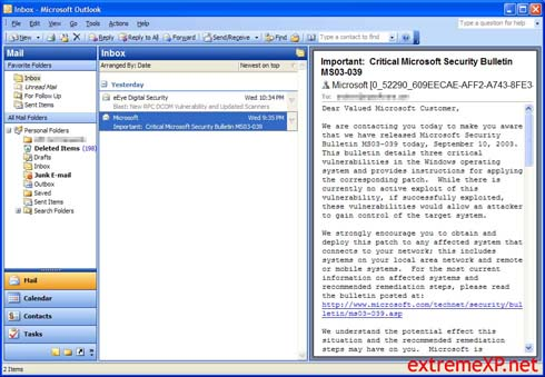Microsoft Office 2003: Outlook (klein)