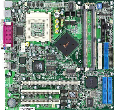 MSI MS-6394 sinine PIII serverplankje