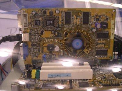 Werkende VIA DeltaChrome chip