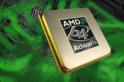 AMD Athlon 64 FX (printplaat achtergrond)