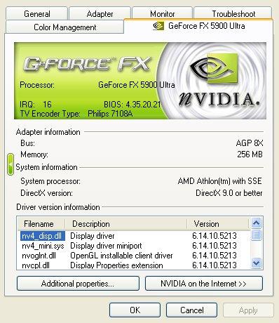 nVidia Detonator 52.13