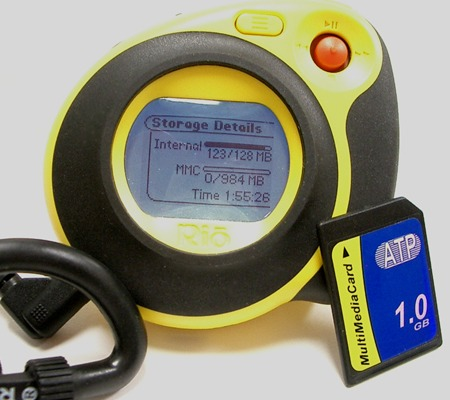 ATP 1GB MultiMedia Card met portable player (klein)