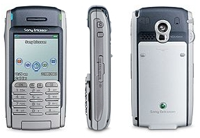 Sony Ericsson P900 (drie aanzichten)