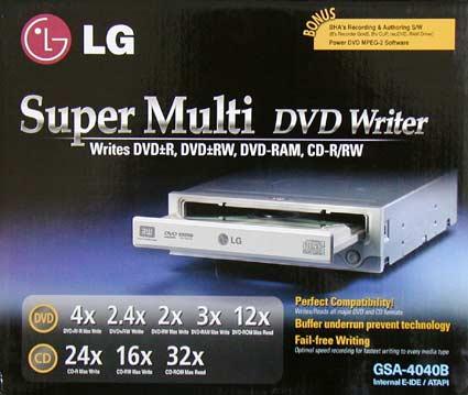 LG GSA-4040B dvd-brander (doos)