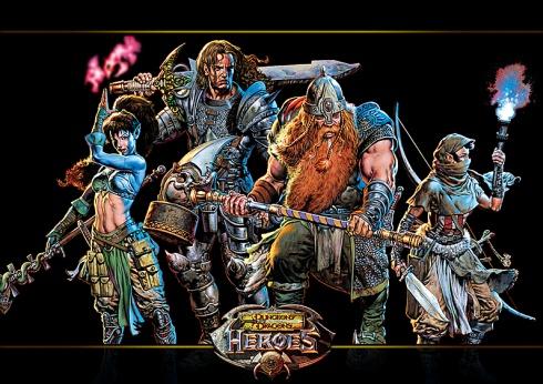 D&D Heroes illustratie