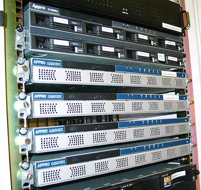 Artemis serverupgrade 1/3 november 2003 - Artemis en 4x dual Xeon