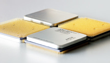Vier AMD Opteron-processors