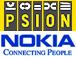 Nokia en Psion logo