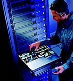 Server rack / cluster illustratie (klein)