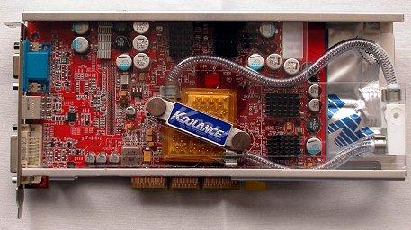 Sapphire Radeon 9800 XT met Koolance-waterkoeling