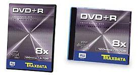 Traxdata DVD+R 8x doosjes