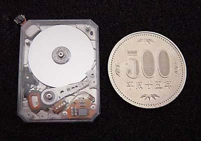Toshiba's kleinste HDD ter wereld