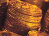 Stapeltje munten, geld