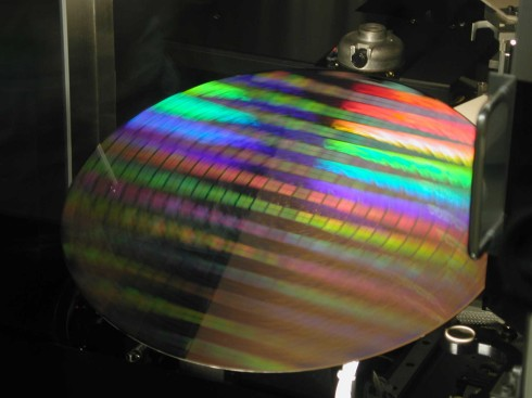 Intel wafer (roterend)