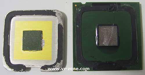 Intel Prescott open en bloot