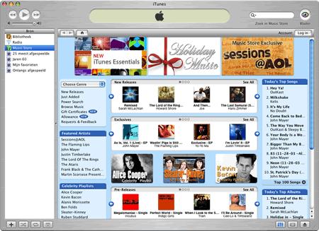Apple iTunes 4.2 Music Store (klein)