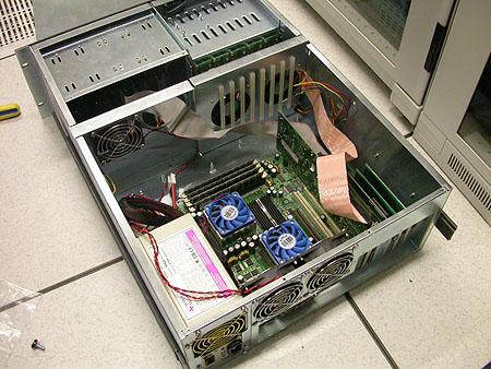 Serveronderhoud 20-12-2003: Ontmanteling Apollo II