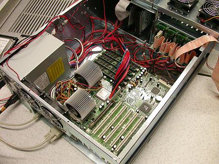 Serveronderhoud 20-12-2003: nieuwe hardware Alicia