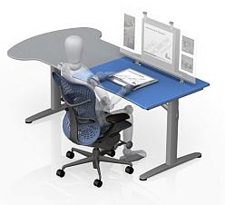 Living Tomorrow - Gispen T-Desk (zitten klein)