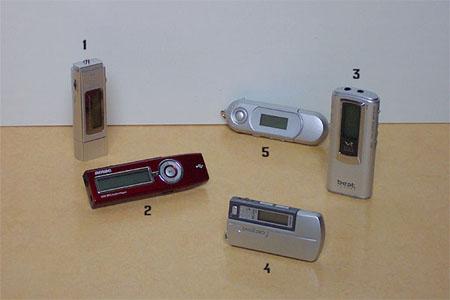MP3-pendrives: impressie 5 modellen (genummerd)