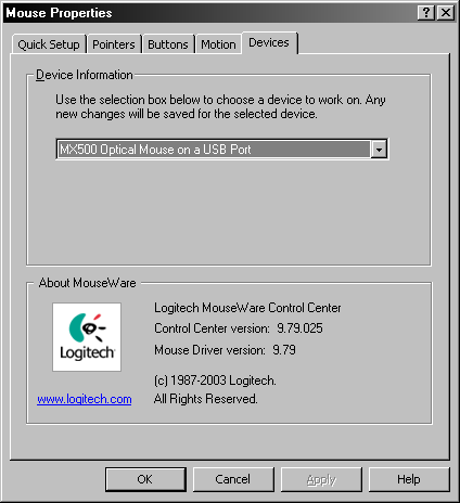 Logitech MouseWare 9.75 build 25