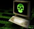 Virus - groene doodskop (kleiner)
