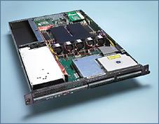 Celestica dual Opteron 1U rackmount (open, 225px)