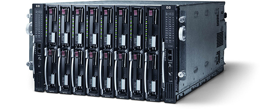 HP ProLiant BL20P blade perspic (groot)