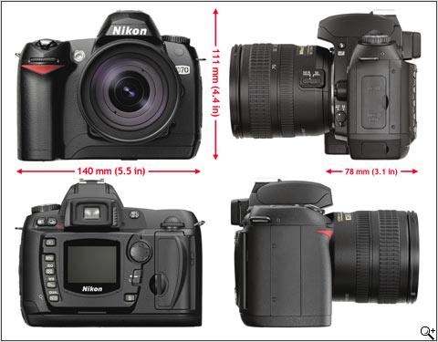 Nikon D70 (alle aanzichten)