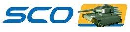 SCO logo met tank naar SCO gericht