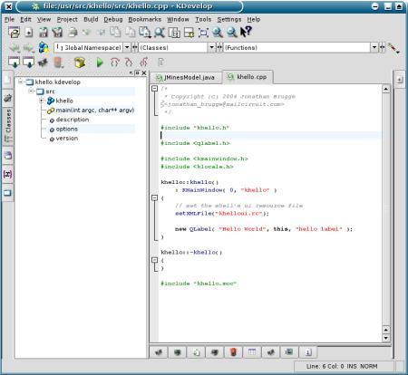 KDE KDevelop 3.0 (Gideon)