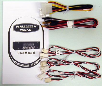 Ultracool II Digital, inhoud van de doos (excl. fancontroller)