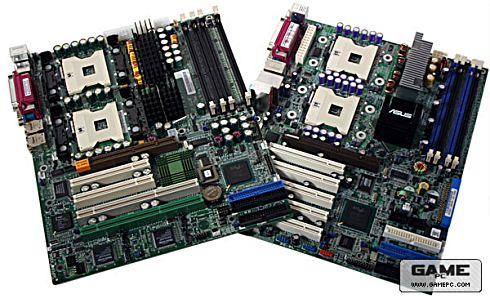 Supermicro X5DAL-TG2-moederbord en Asus PC-DL Deluxe-moederbord