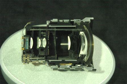 Panasonic FZ10 doorsneden zoomobjectief