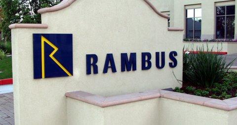 Rambus logo op muur (groot, bijgeknipt)