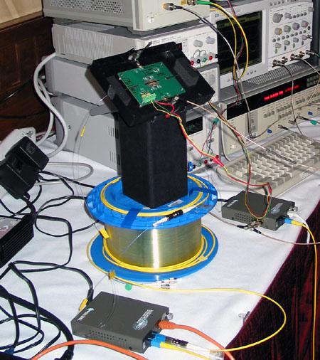IDF 2004 - Photonics - Testchip op spoel van 5km fiber