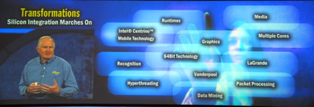 IDF 2004 - Craig Barrett keynote - silicon integration moves on