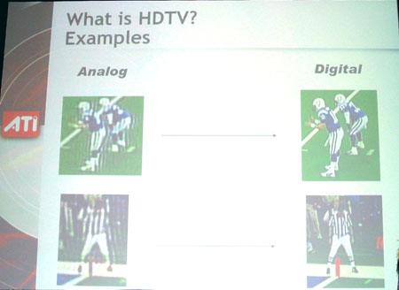 IDF 2004 - ATi - HDTV kwaliteit vergelijking