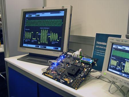 IDF 2004 - andere XDR DRAM test setup