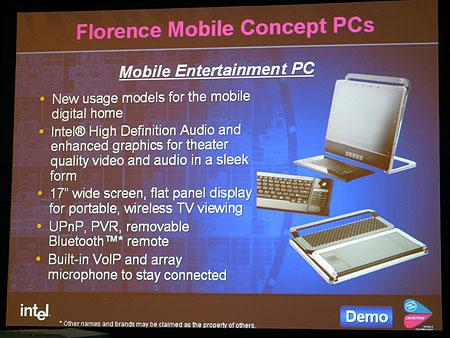 IDF 2004 - Sonoma concepts - Slide mobile entertainment pc