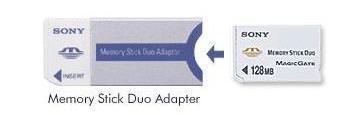 Sony memory stick duo en adapter
