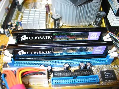 Corsair DDR2-geheugenreepjes op IDF