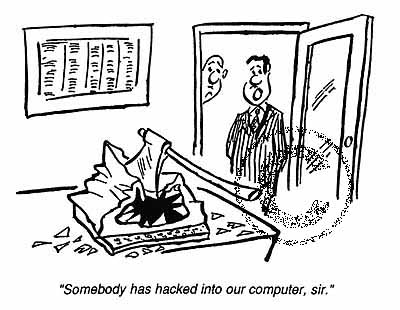 Hackers / Inbraak / Privacy cartoon