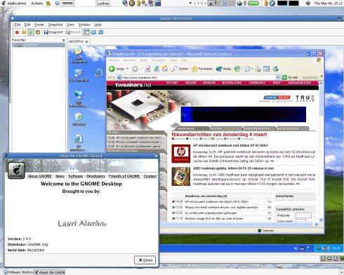 VMware Workstation 4 (Linux & Windows XP) - kleiner