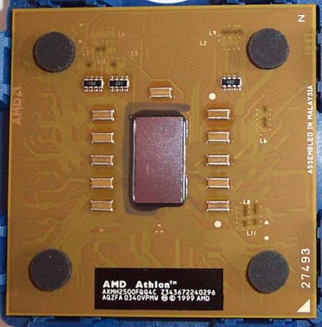 Mobile Barton 2500+ processor groot