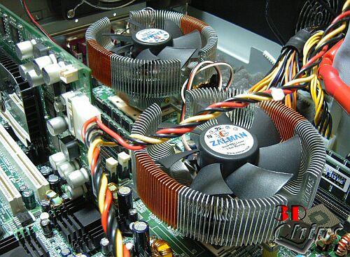 Dual Zalman CNPS 7000 AL-CU op Tyan K8W