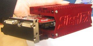 CeBIT 2004: Gainward SilentFX passief gekoeld videokaart (klein)