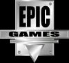 Epic Games logo klein (zwart)