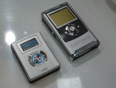 MSI's MP-518 naast de iRiver iHP-100